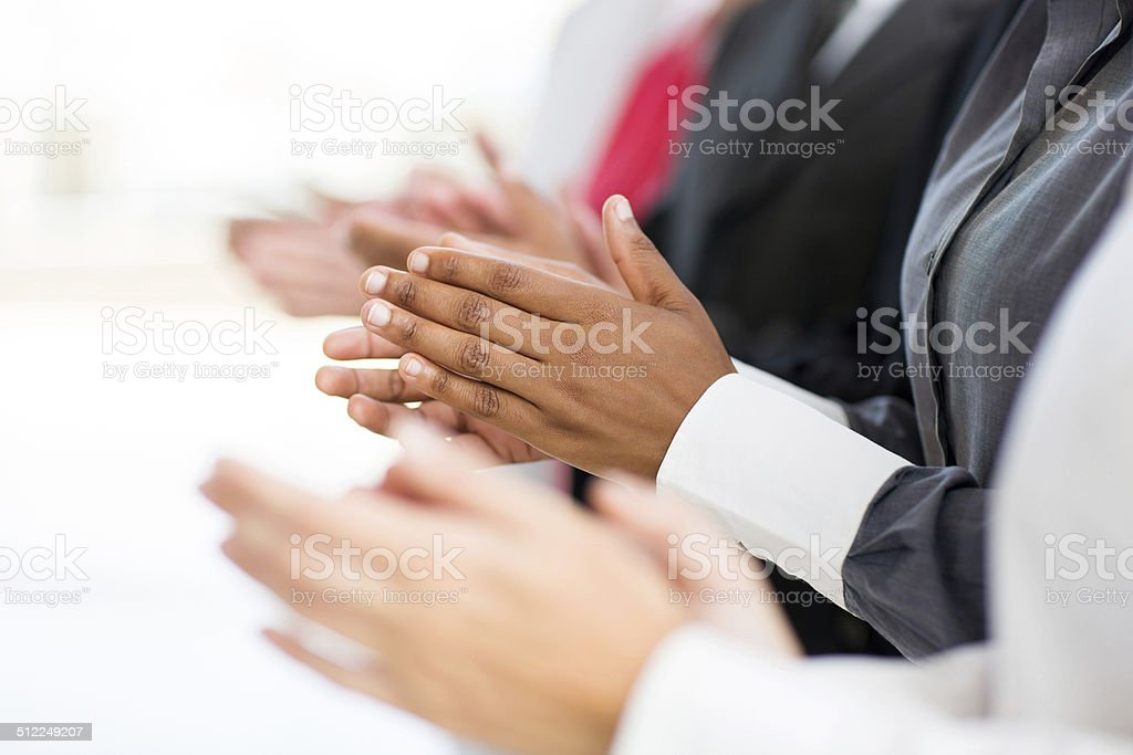 business group applauding stock photo