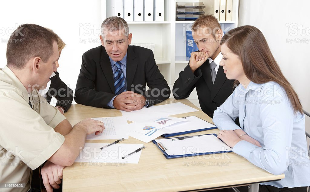 Business group at the meeting royalty-free stock photo