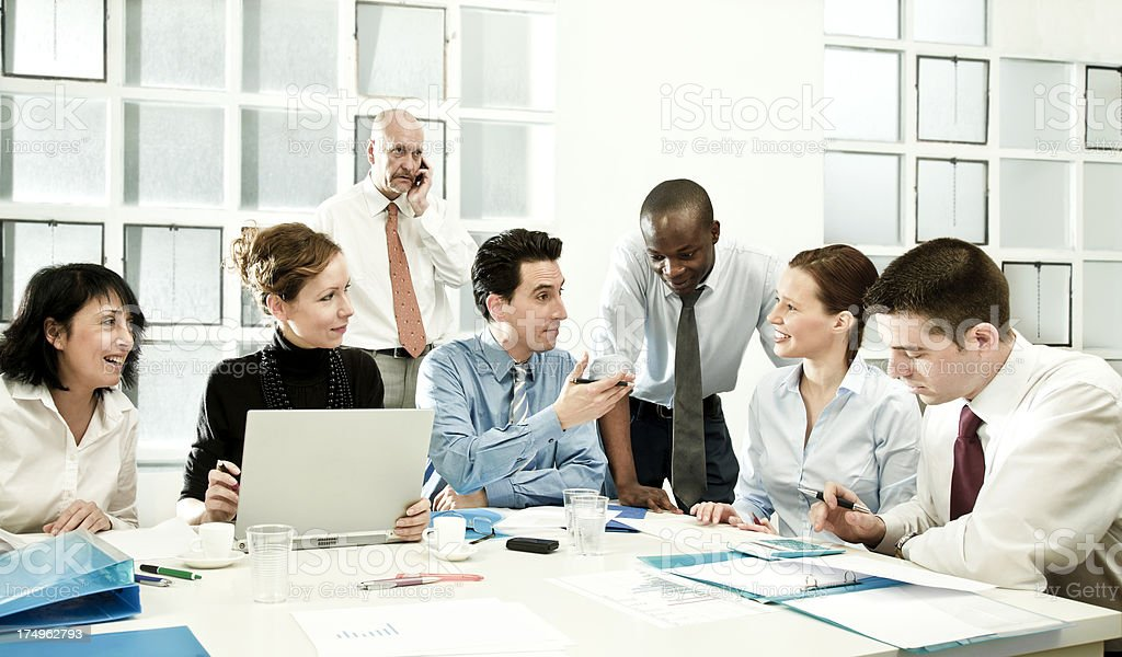 Business group brainstorming royalty-free stock photo