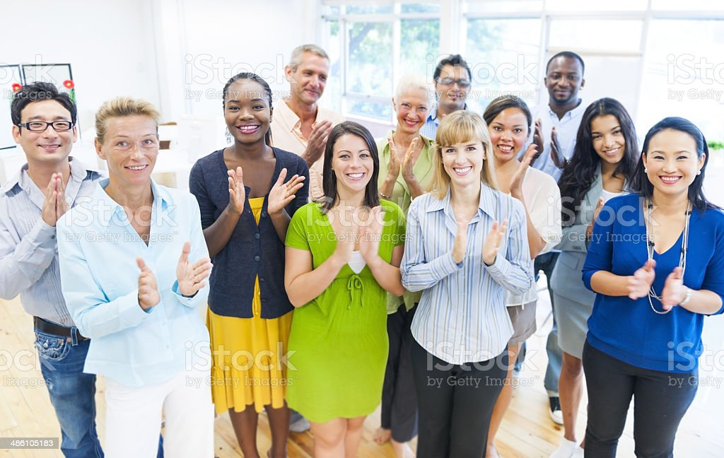 Business Group Clapping stock photo
