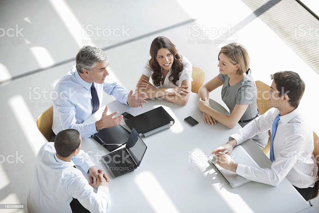 Business Group Discussion royalty-free stock photo