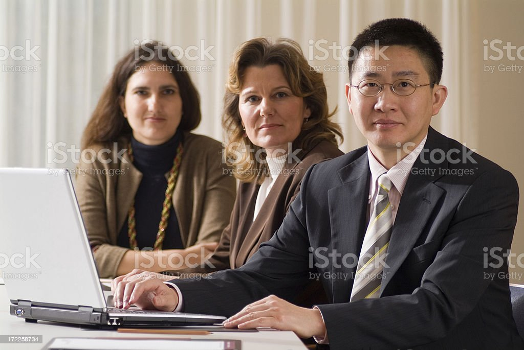 Business group having a meet. royalty-free stock photo