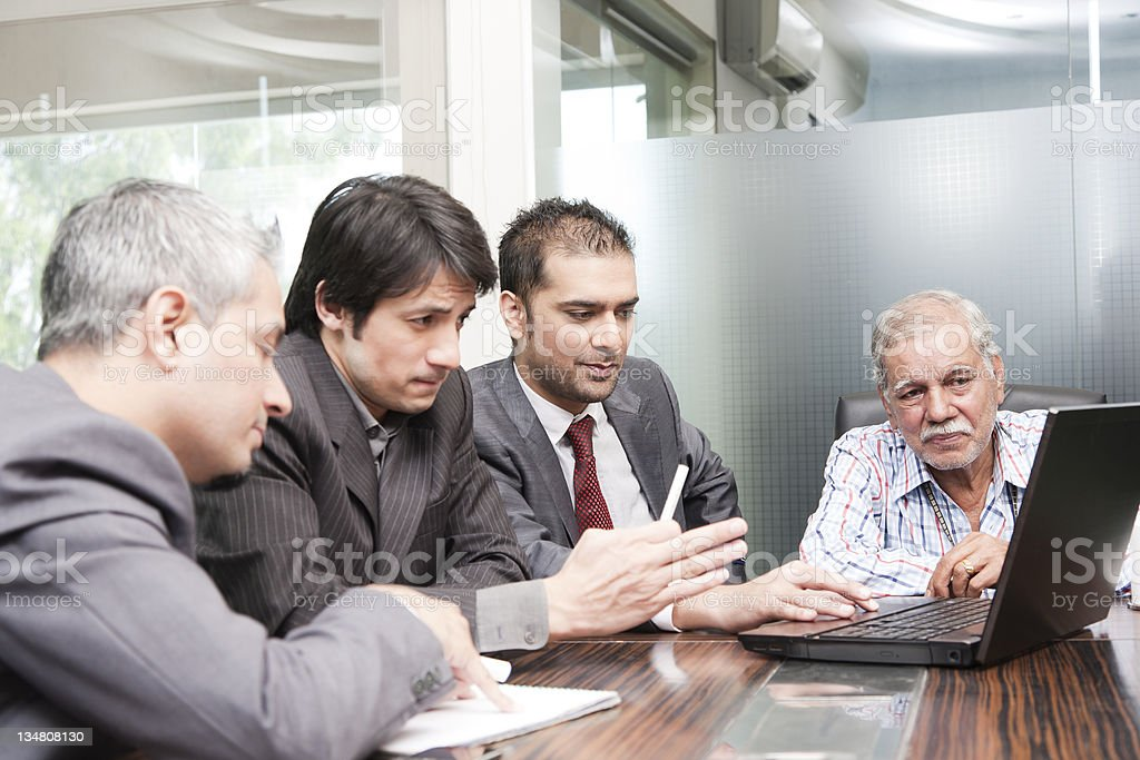 business group in a meeting royalty-free stock photo