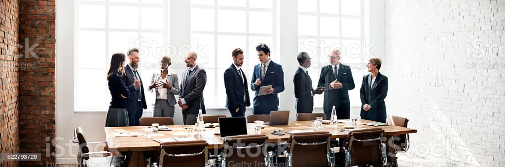 Business Group Meeting Discussion Strategy Working Concept stock photo