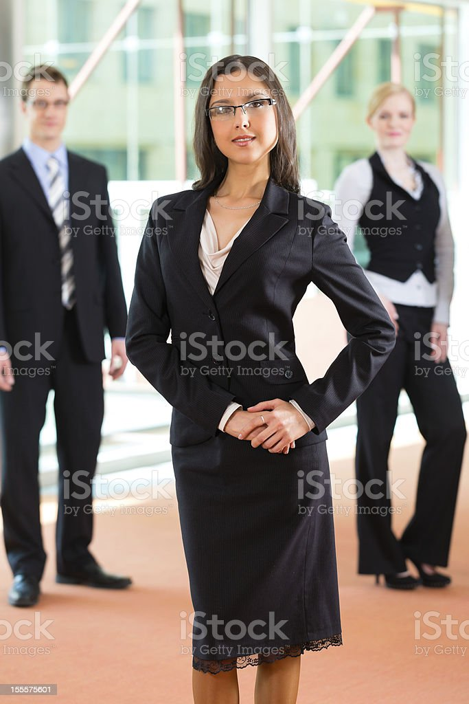 Business - group of businesspeople in office royalty-free stock photo