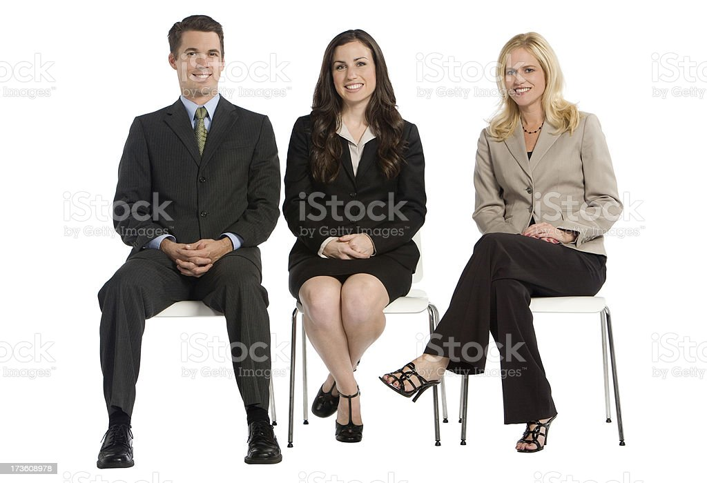 Business Group Seated royalty-free stock photo