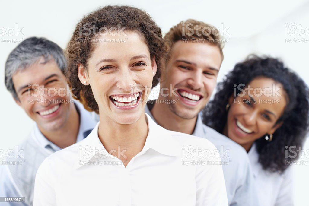Business group smiling royalty-free stock photo