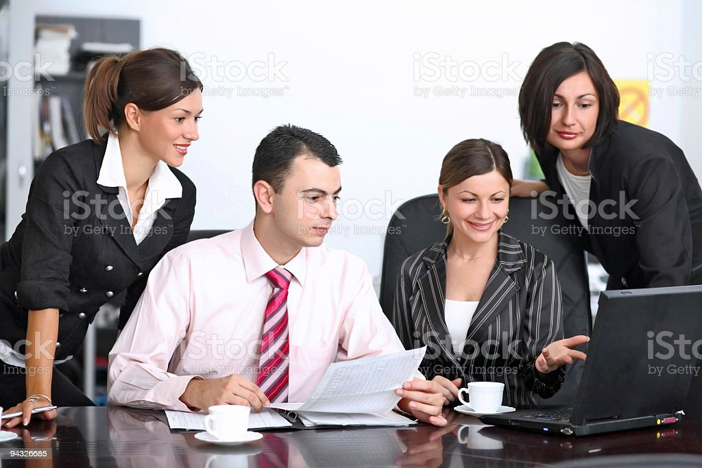 Business group working. royalty-free stock photo