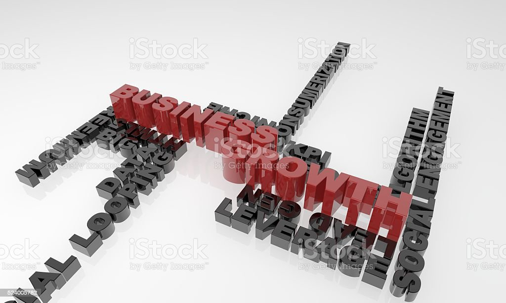 Business Growth 3D text - XXXL stock photo