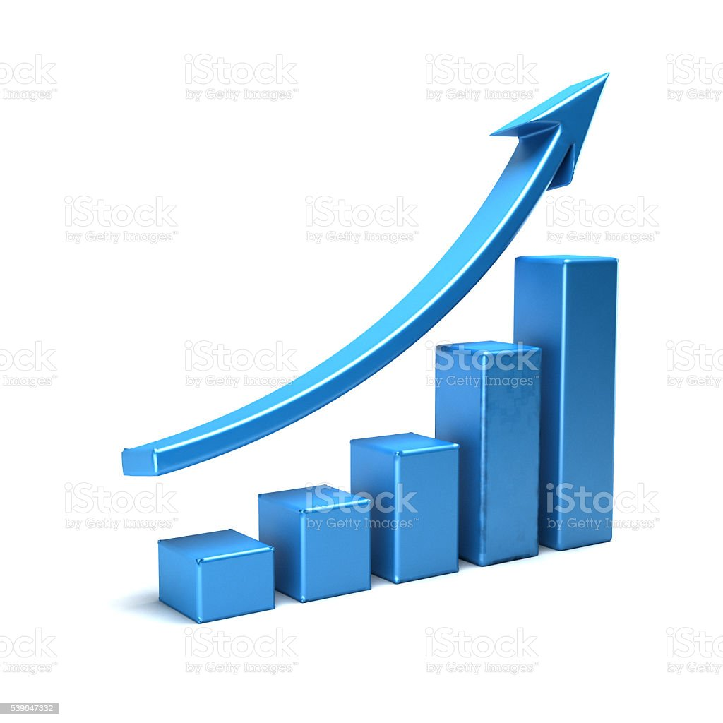 Business Growth Bar Graph Curve Illustration stock photo