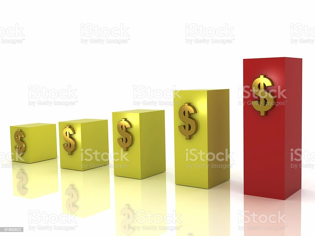 Business Growth Chart royalty-free stock photo