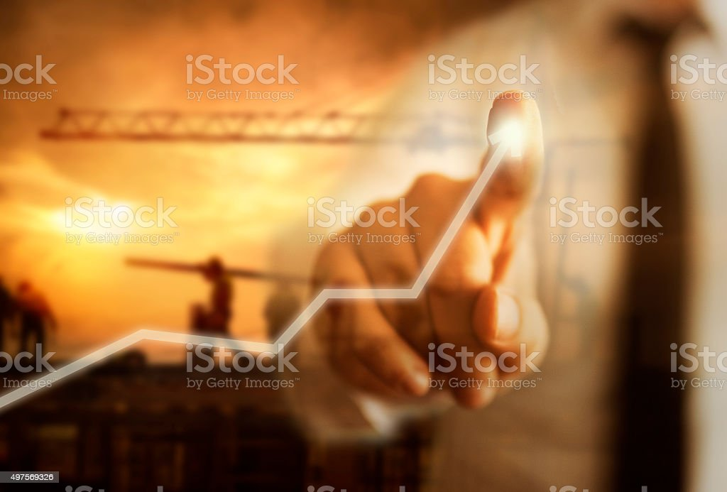 Business Growth Concept with construction stock photo