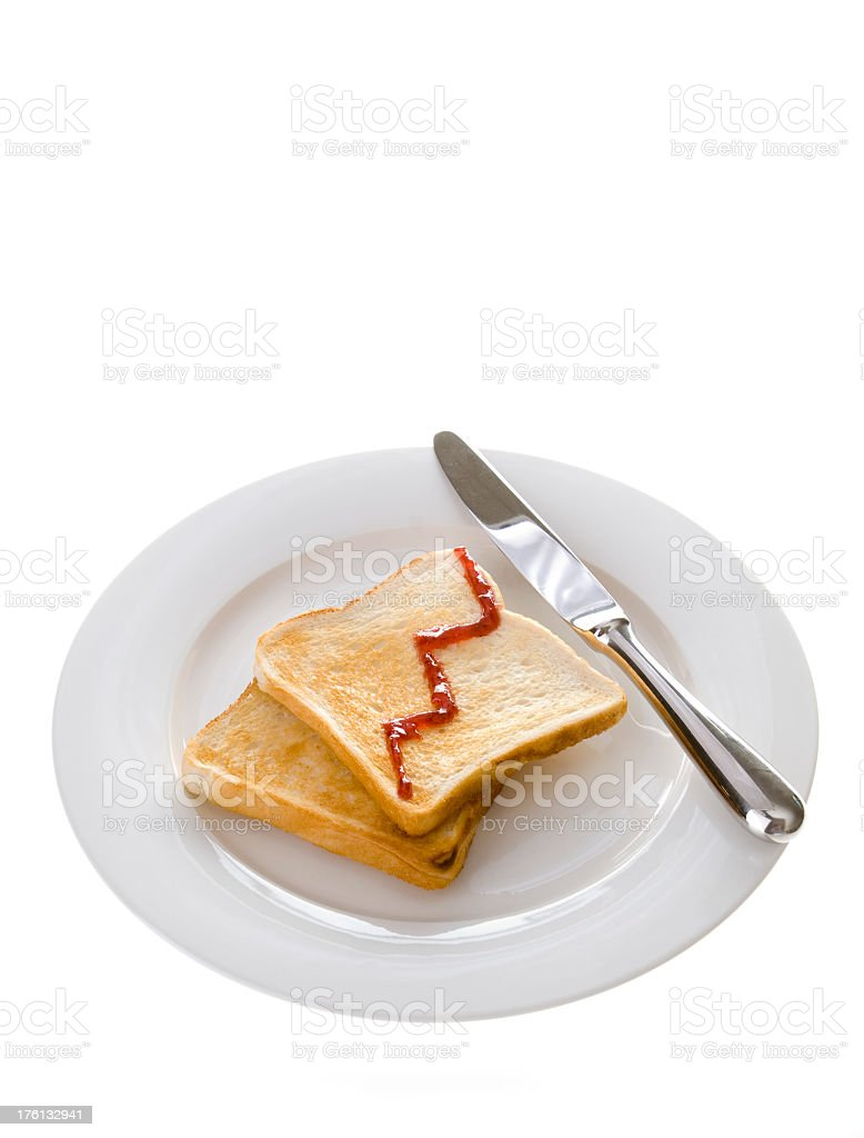 Business growth concept with toast and jam royalty-free stock photo
