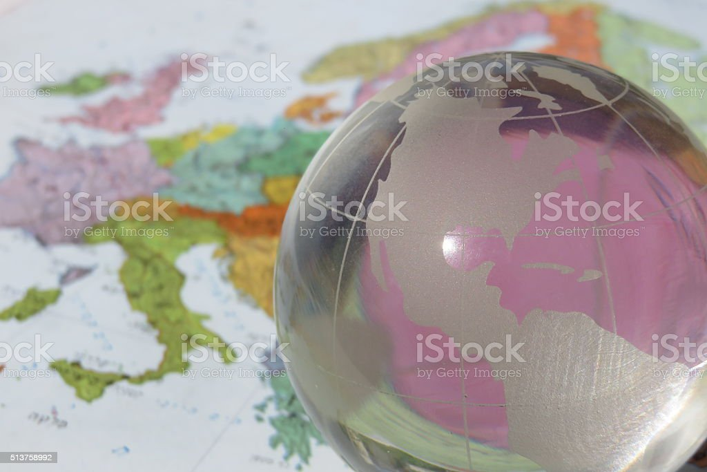 Business growth- Crystal Globe stock photo