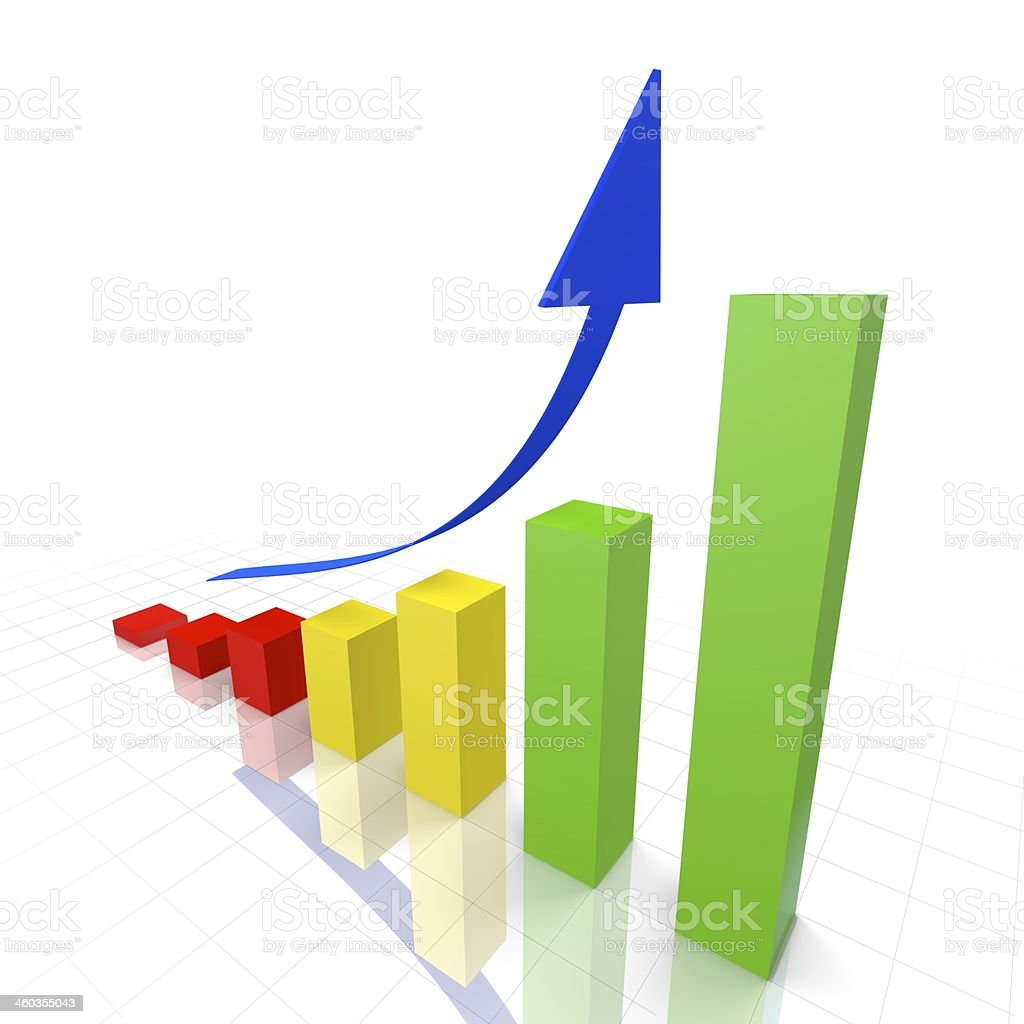 Business Growth Graph stock photo