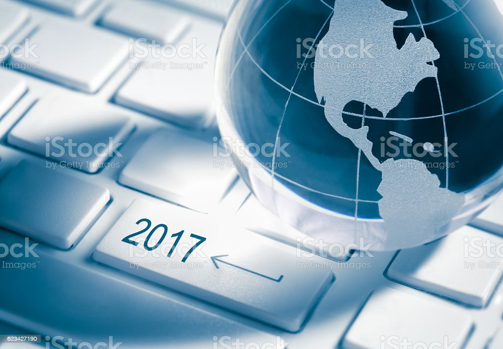 Business growth in 2017 year stock photo