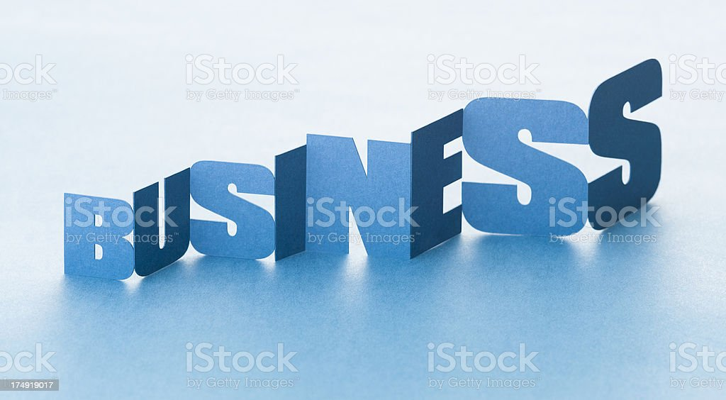 Business growth in a paper chain royalty-free stock photo