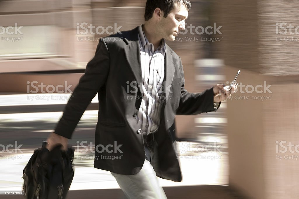 Business guy on the go royalty-free stock photo