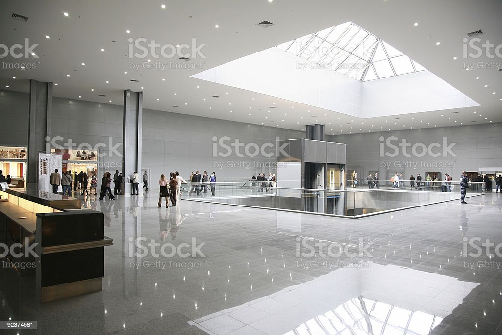 business hall 4 stock photo
