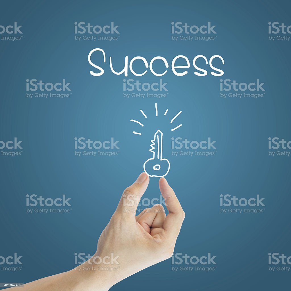 Business hand key to success stock photo
