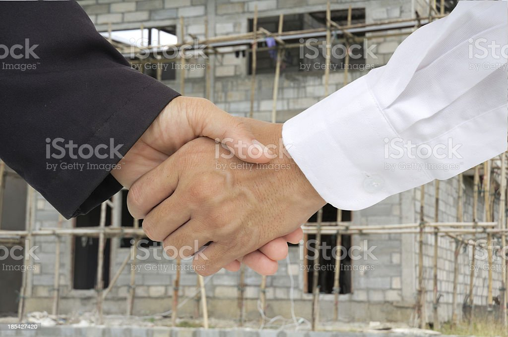 business hand shack royalty-free stock photo
