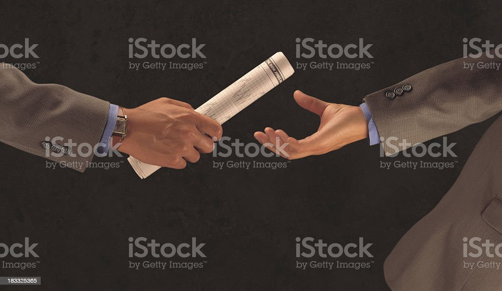 Business Handoff stock photo