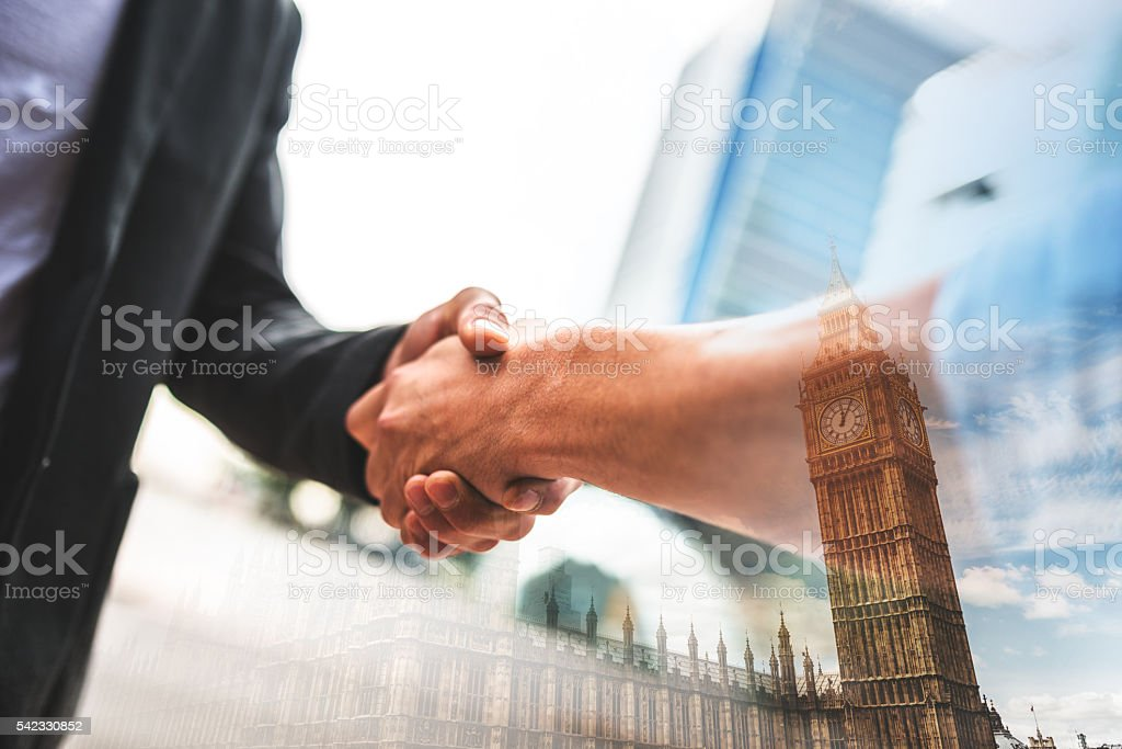 Business handshake on london stock photo