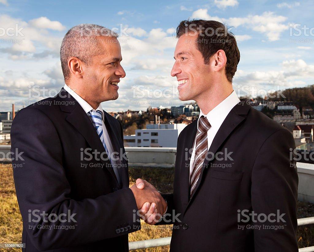 Business handshake over the deal royalty-free stock photo