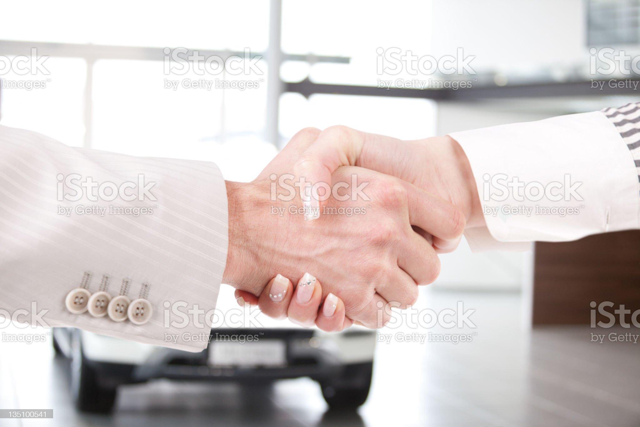 Business handshake royalty-free stock photo