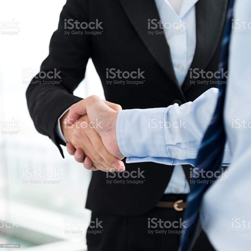 Business handshake stock photo