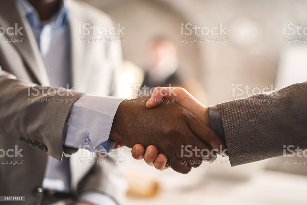 Business handshake. stock photo