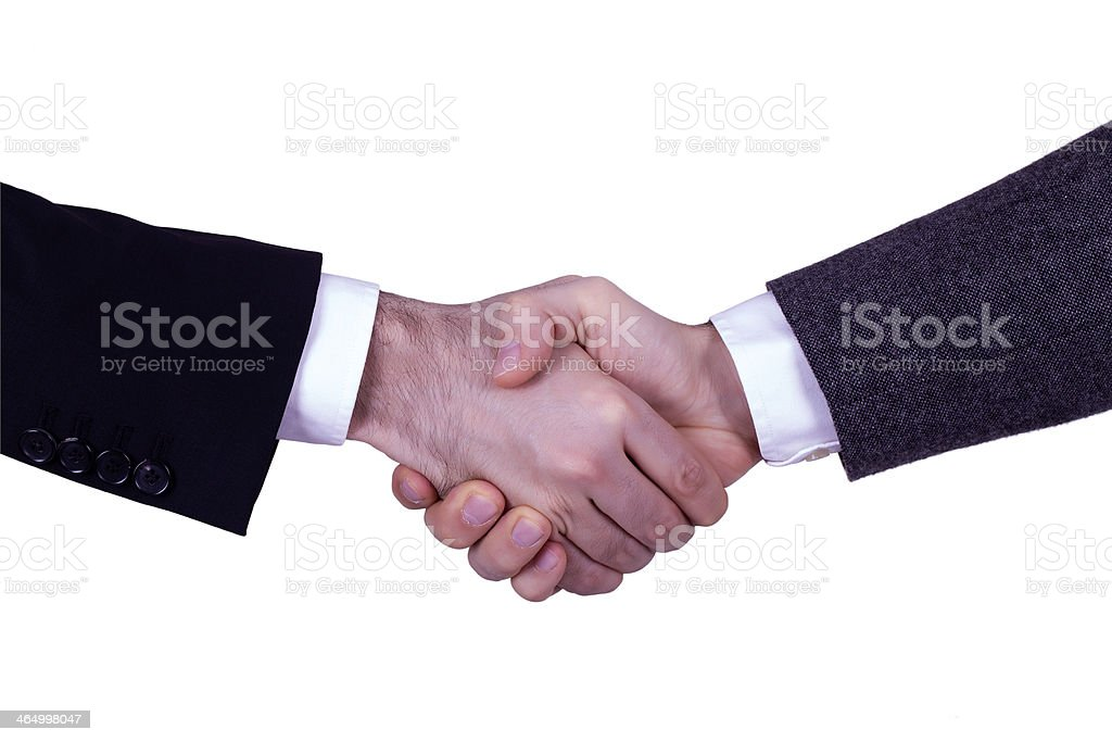 Business Handshake with clipping path royalty-free stock photo