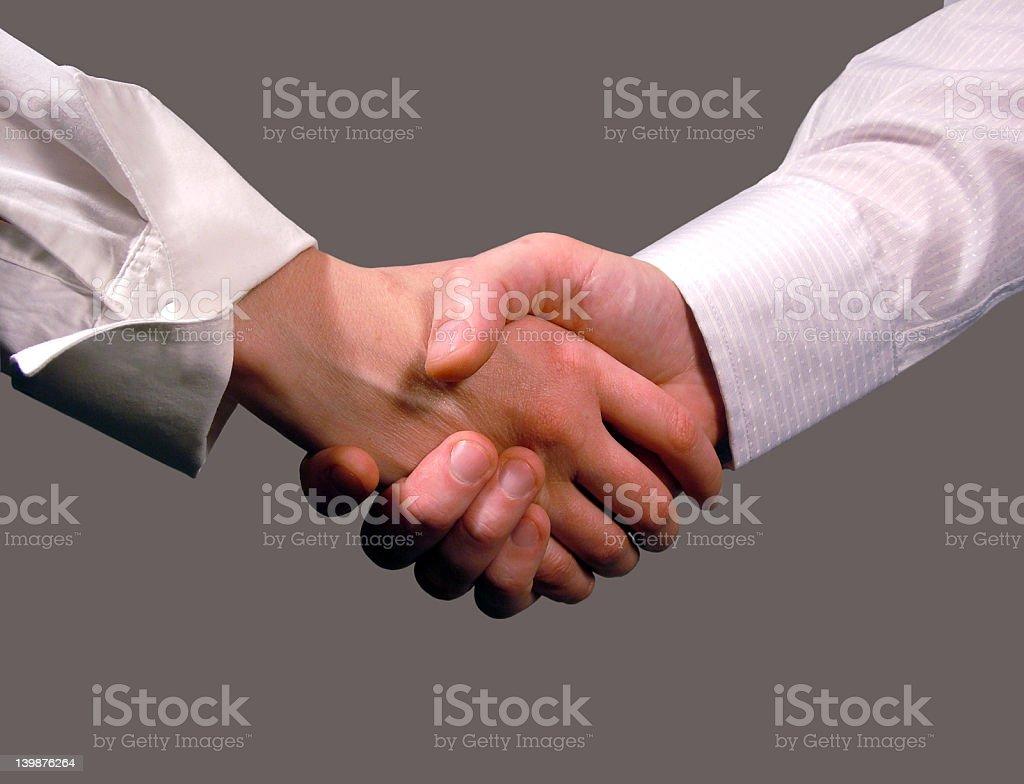 Business handshake ,woman and man royalty-free stock photo