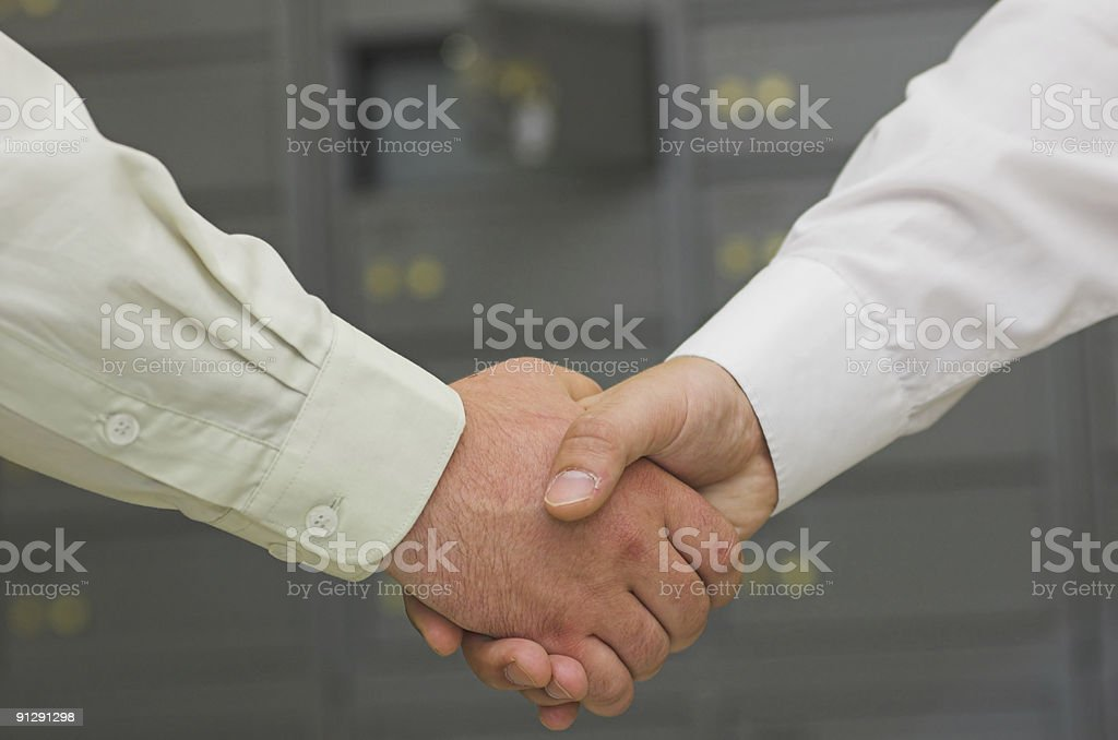 Business handshaking royalty-free stock photo