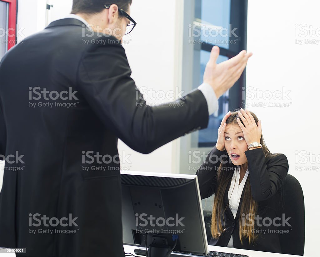 Business harassment stock photo