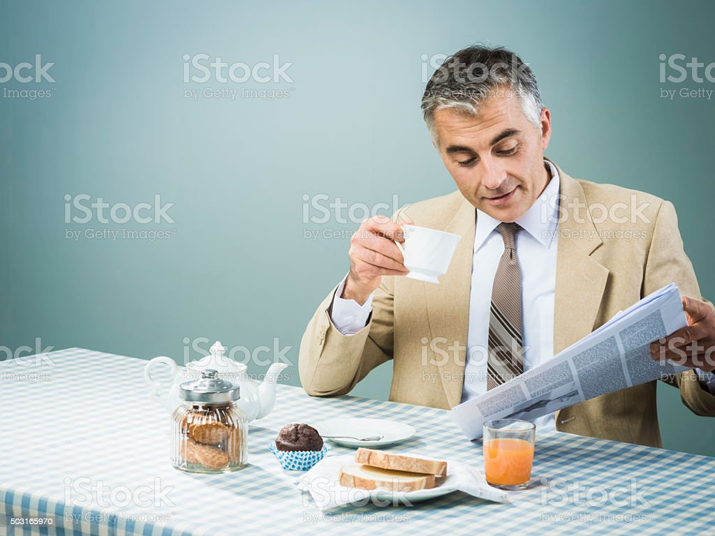 Business having a nutrient breakfast stock photo