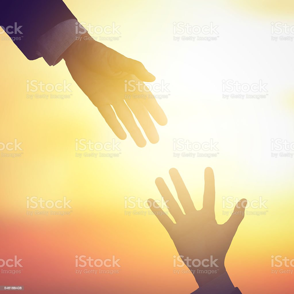 Business help partnership stock photo