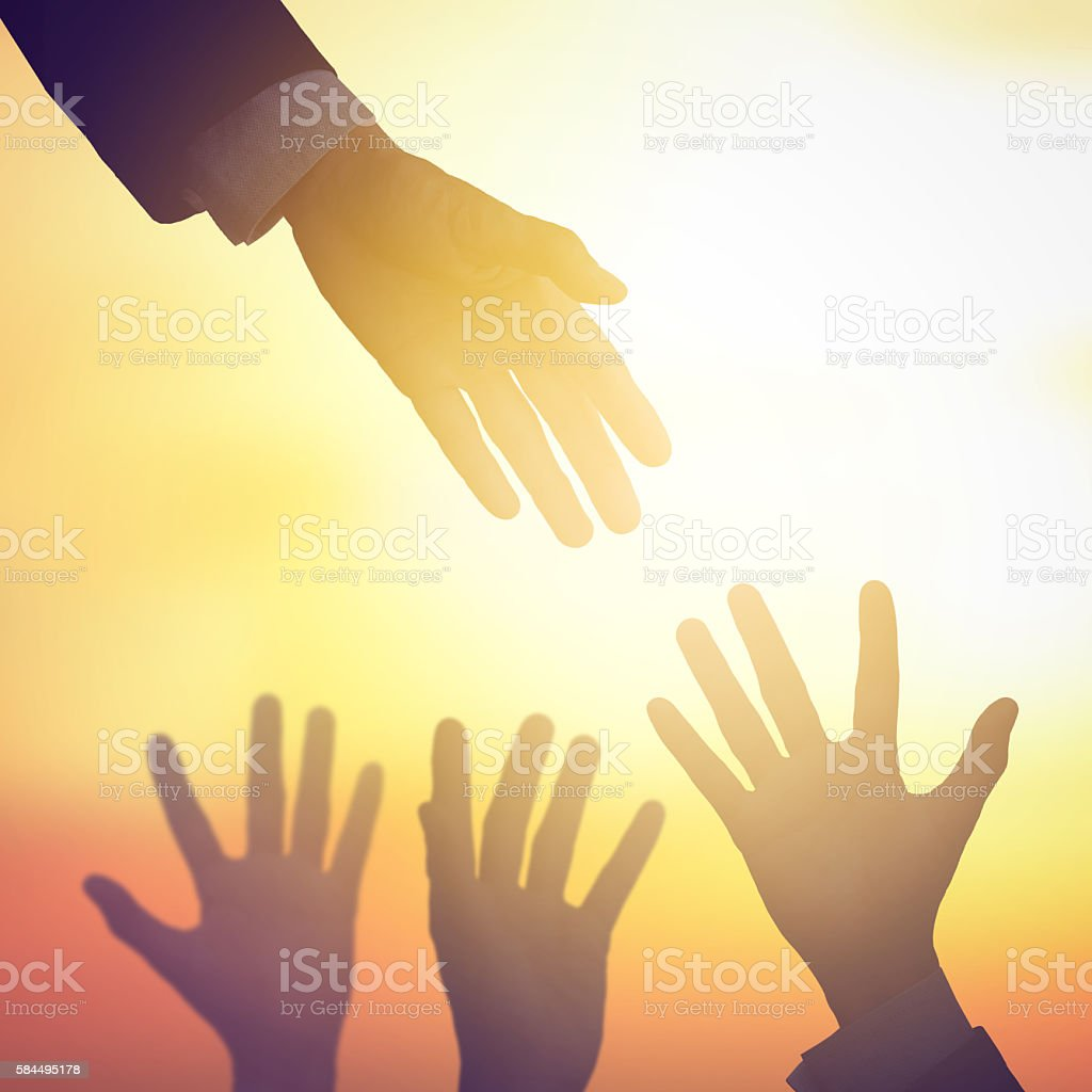 Business help teamwork stock photo