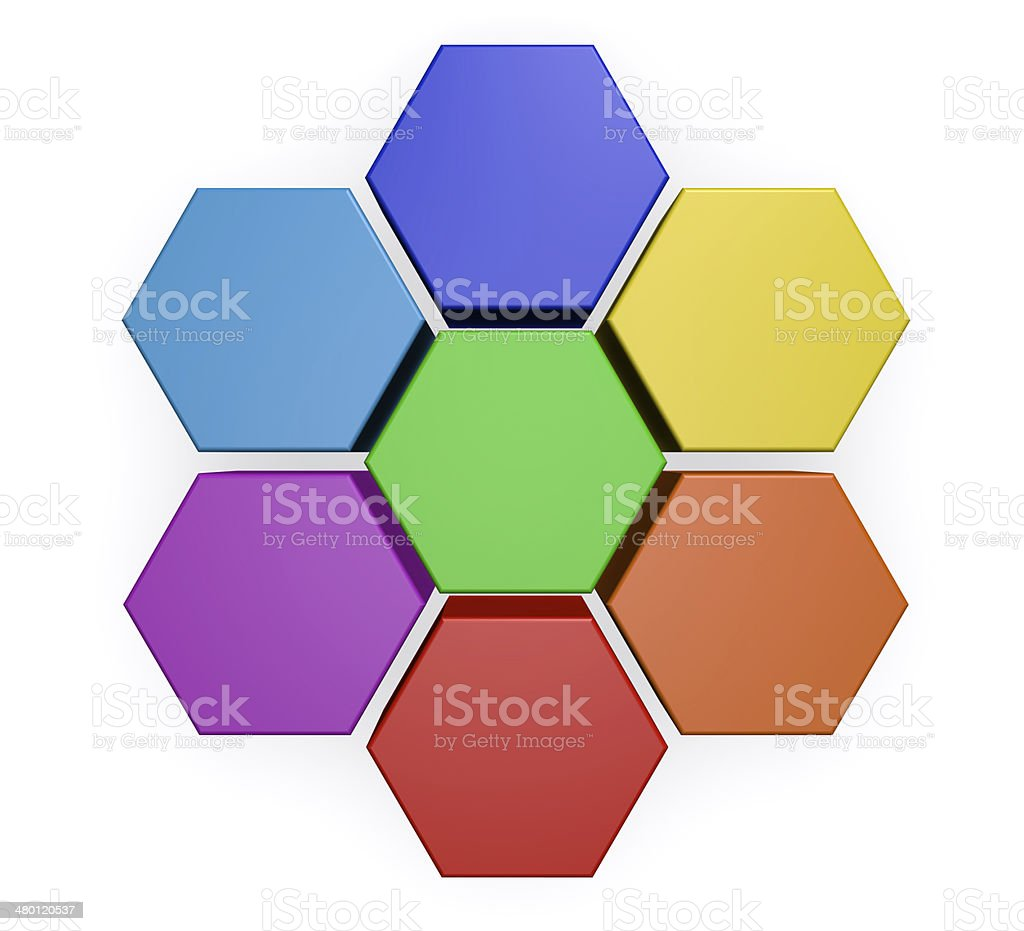 Business Hexagon Chart Diagram royalty-free stock photo