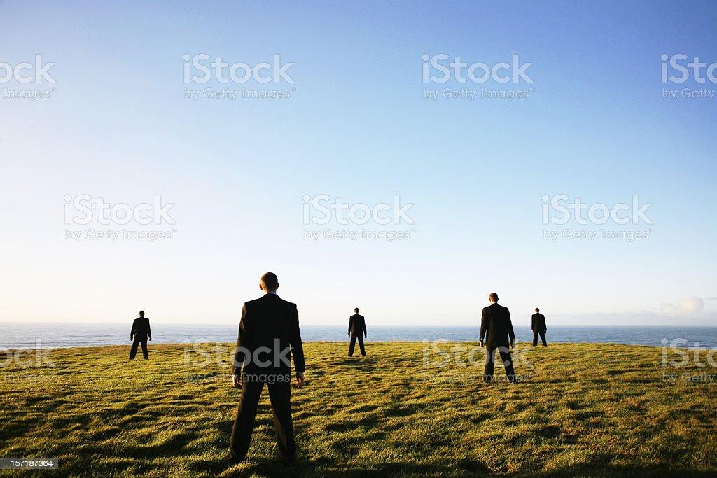 Business horizon stock photo