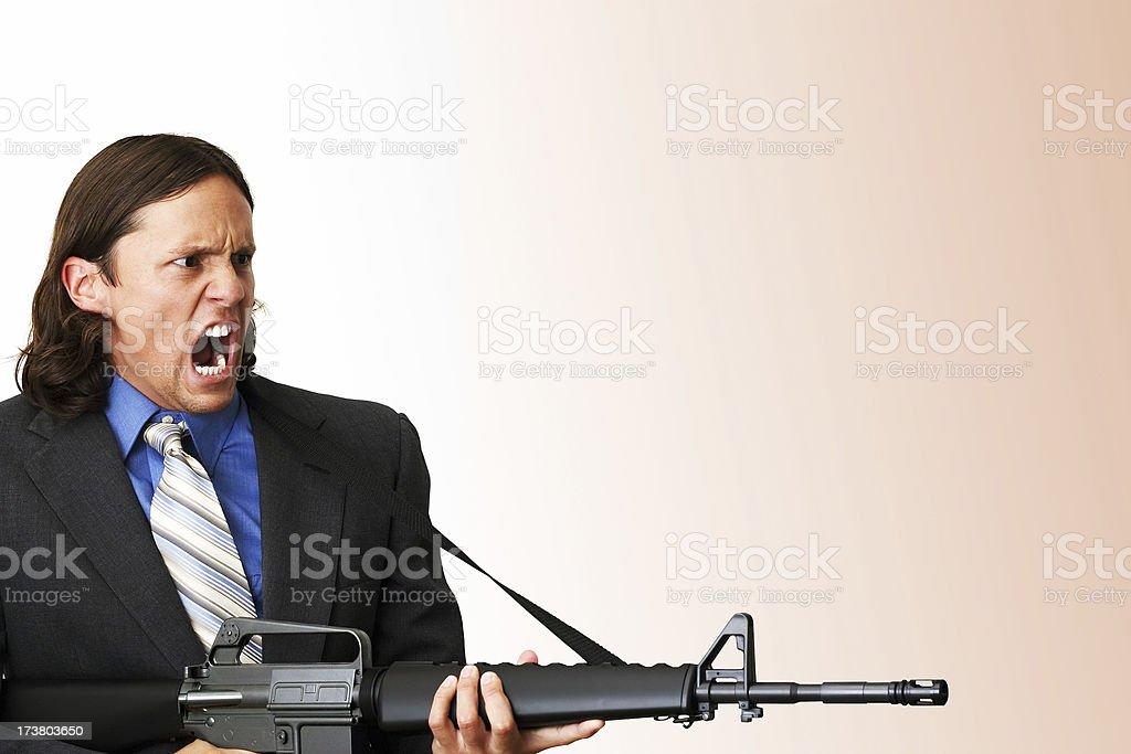 Business Hostile Takeover stock photo