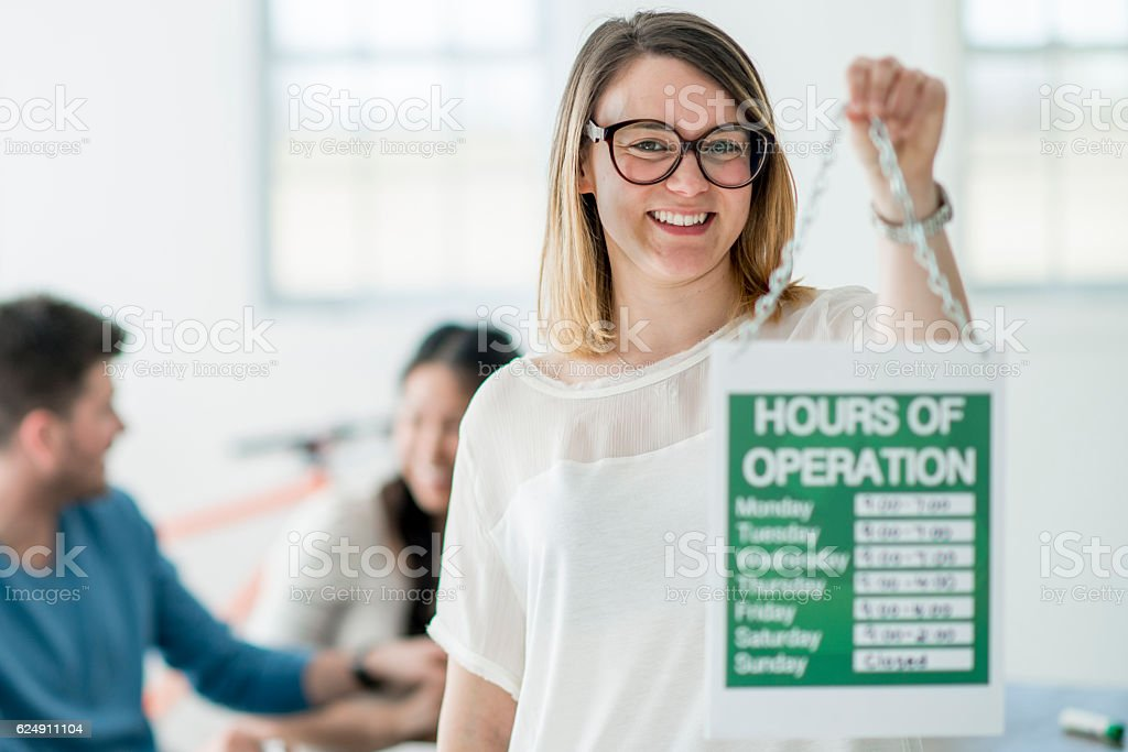 Business Hours of Operation stock photo