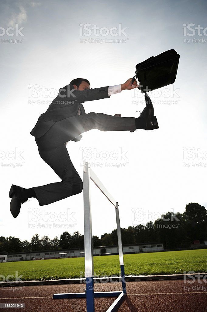 Business Hurdler stock photo
