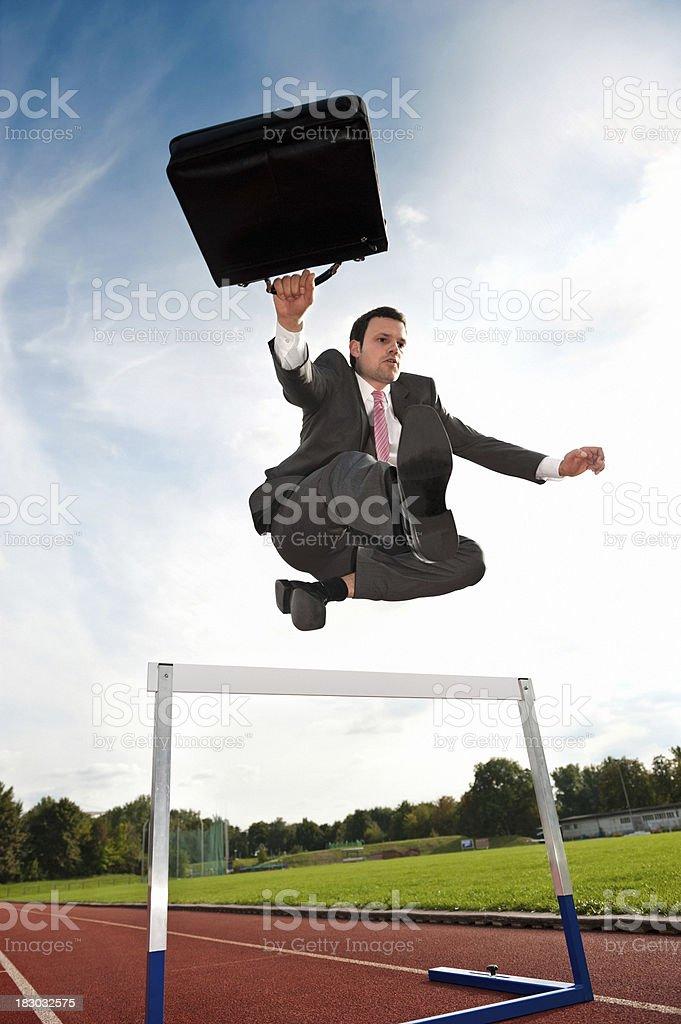 Business Hurdler royalty-free stock photo