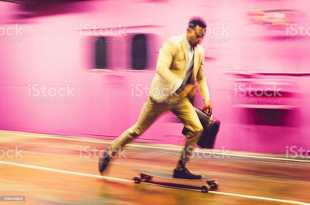 Business hurry stock photo