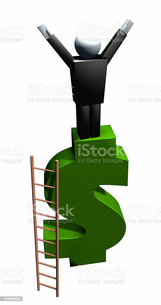 Business Icons  Financial Success  Isolated royalty-free stock photo