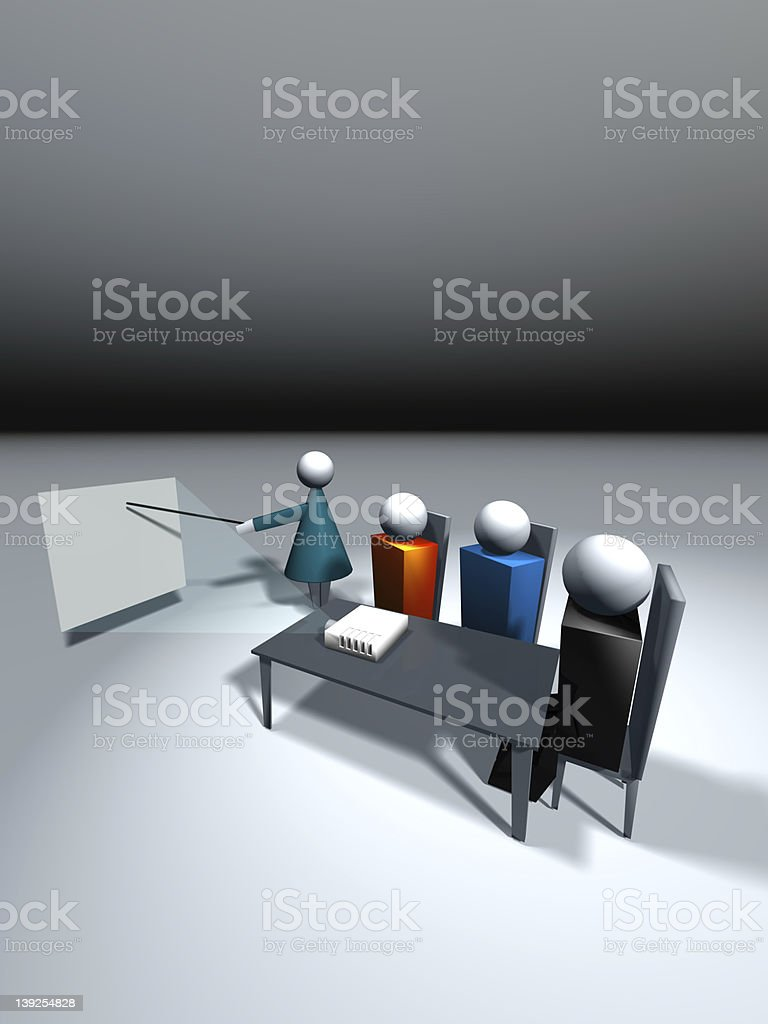 Business Icons - LCD Projection Class royalty-free stock photo