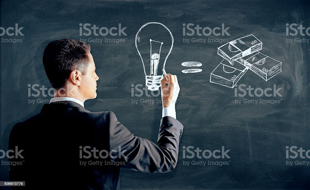 Business idea concept stock photo