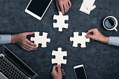 Business image and jigsaw puzzle