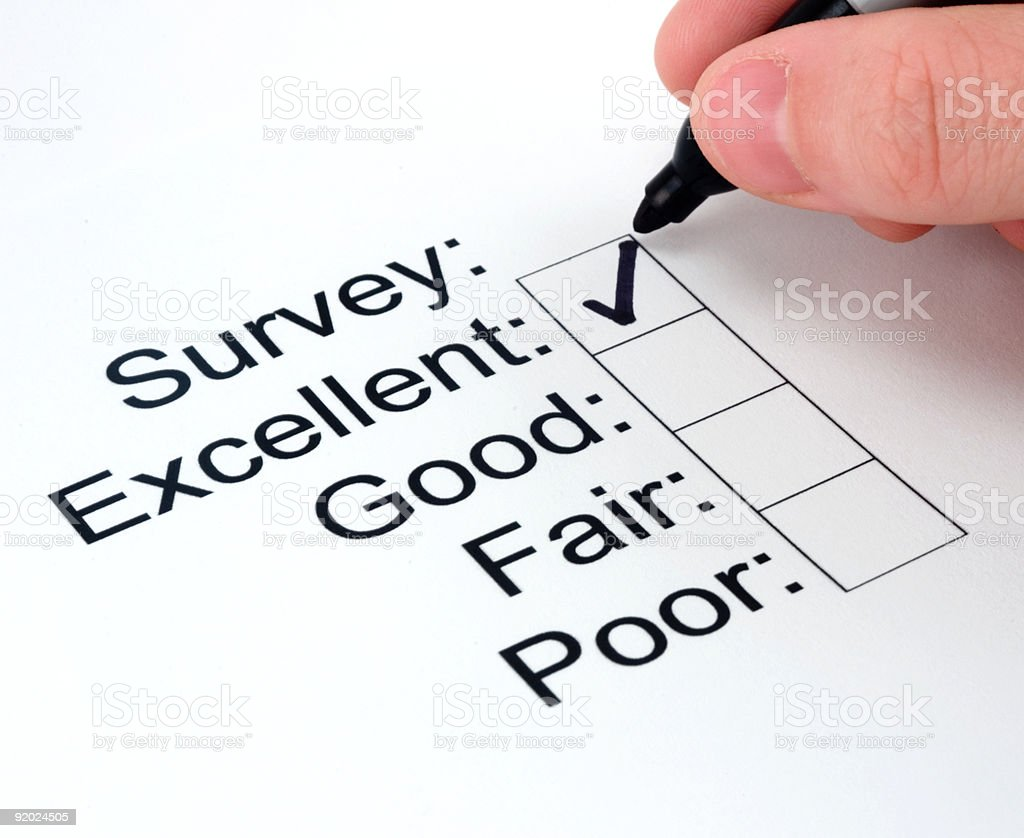 Business Image: Customer Survey stock photo